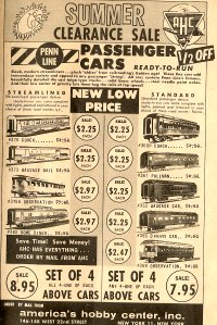 Penn Line Advertisements in AHC Catalog