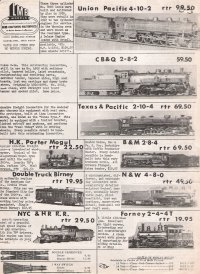 LMB Models Deal Sheet 1967