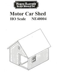 North Eastern Models Motor Car Shed Instructions
