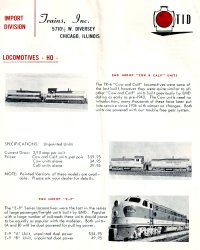 Trains, Inc. Catalog 1967